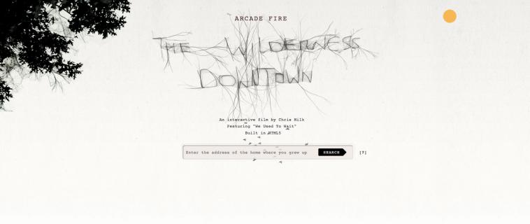 The Wilderness Downtown: fondere musica e web