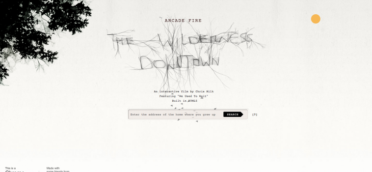 The Wilderness Downtown: fondere musica e web